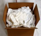 White Flannel Stain Rags-25 lb. box